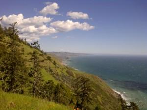The coast of California.